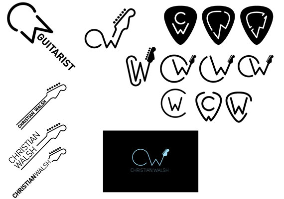 Here are the different steps achieved towards the final logo. Made for a musician based in Bristol. Brilliant guy. Softwares: Illustrator