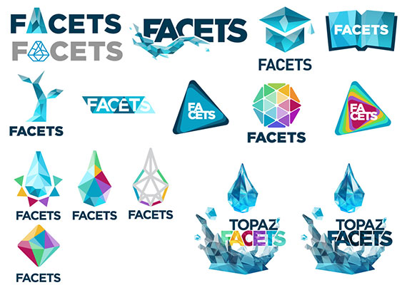 Here are the different steps achieved towards the final logo. Softwares: Photoshop - Illustrator - Blender
